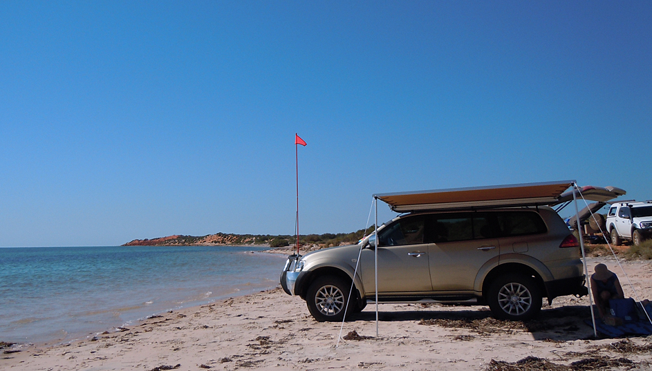 Our Mitsubishi PB Challenger (2010) at Cape Peron, Shark Bay